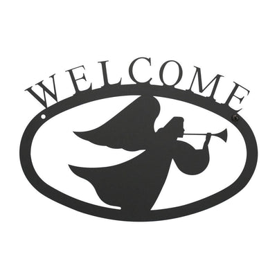 Angel - Welcome Sign Small -Village Wrought Iron VWI-WEL-48-S