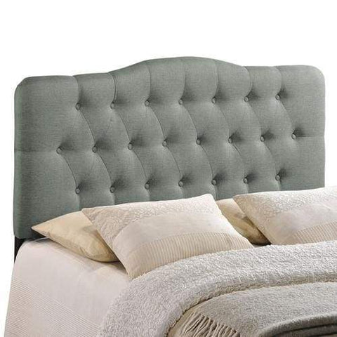 Sovereign Queen Fabric Headboard Gray