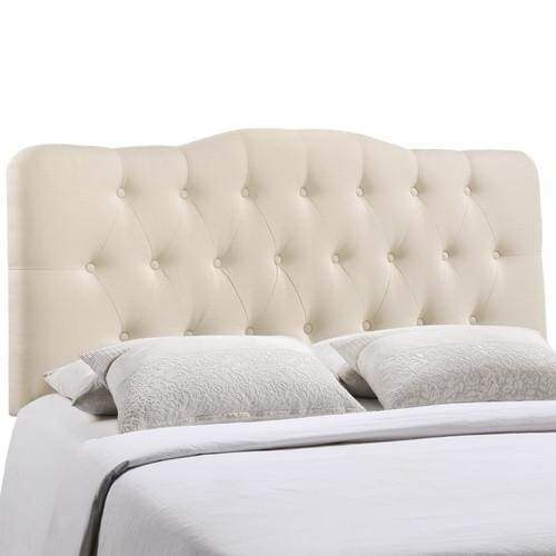 Annabel Full Fabric Headboard Ivory