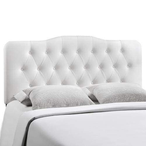 Annabel Full Vinyl Headboard White