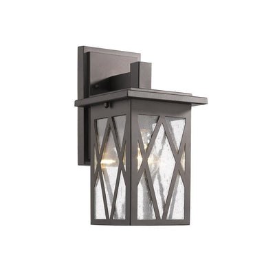 "Anthony Transitional 1 Light Rubbed Bronze Outdoor Wall Sconce 12"" Tall - CH2S080RB12-OD1"