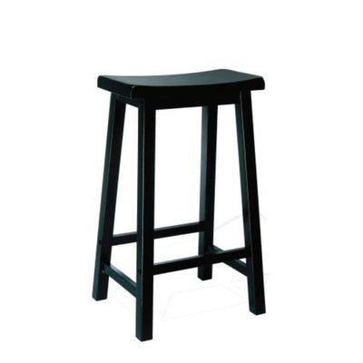 Antique Black with Sand Through Terra Cotta Bar Stool 29 Seat Height PWC-502-431