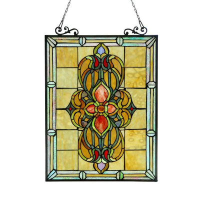 AVALONTiffany-glass Victorian Window Panel 18x25
