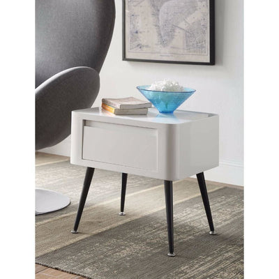 Black and White Side Table with Short Legs -4DC Concepts
