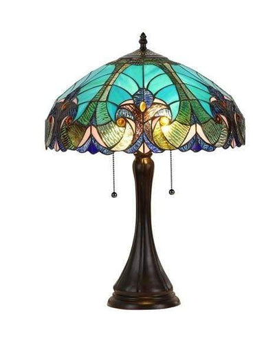 Blue- Green Toned Classy Table Lamp by Chloe Lighting