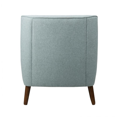 Button Tufted Fabric Upholstered Wooden Accent Chair with Slanted Legs Blue and Brown - K7080-799-11 KFN-K7080-799-11