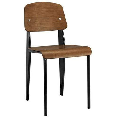 Cabin Dining Side Chair Walnut Black