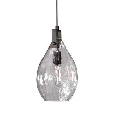 Campester 1 Light Watered Glass Mini Pendant By Uttermost