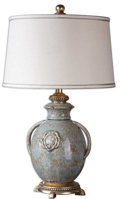 Cancello Blue Glaze Lamp By Uttermost