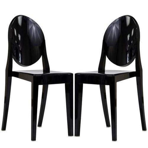 Burton Side Chair In Black (Set of 2)