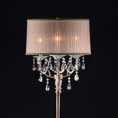 Cecelia Crystal Lamp With Antler Design Floor Lamp By Casagear Home