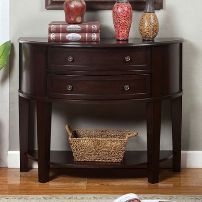 Chanti Transitional Espresso Side Table