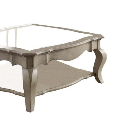 Charming Coffee Table Brown& Clear Glass AMF-86050