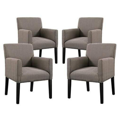 Chloe Armchair Set of 4 Gray
