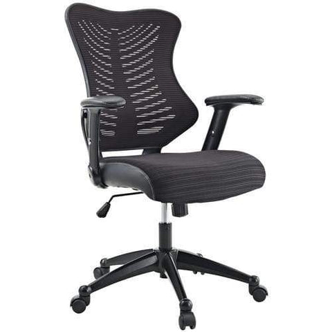 Mid-Back Black Mesh Executive Swivel Office Chair with Back Angle Adjustment