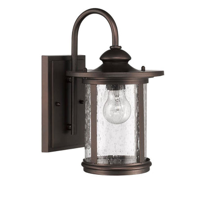 "COLE Transitional 1 Light Rubbed Bronze Outdoor Wall Sconce 13"" Height"