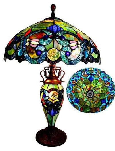 Colorful Victorian Table Lamp by Chloe Lighting