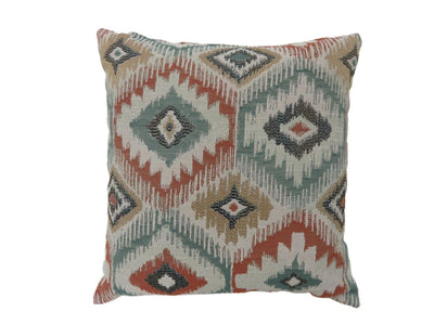 Contemporary Style Diamond Patterned Set of 2 Throw Pillows, Multicolor -PL6025S-2PK By Casagear Home