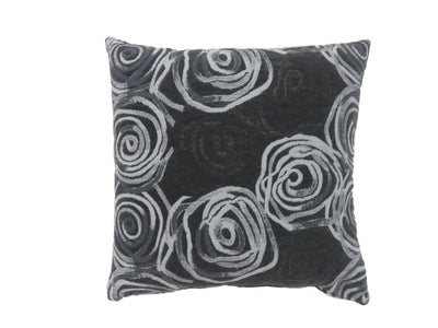 Contemporary Style Irregular Swirly Lines Set of 2 Throw Pillows, Black -PL6036L-2PK By Casagear Home