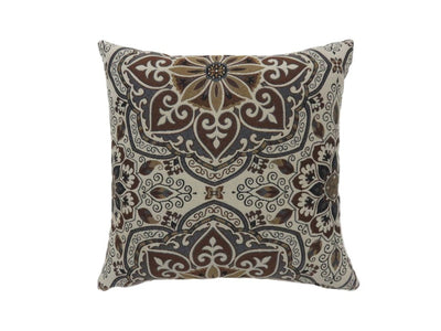 Contemporary Style Medallion Patterned Set of 2 Throw Pillow, Multicolor -PL6035S-2PK By Casagear Home