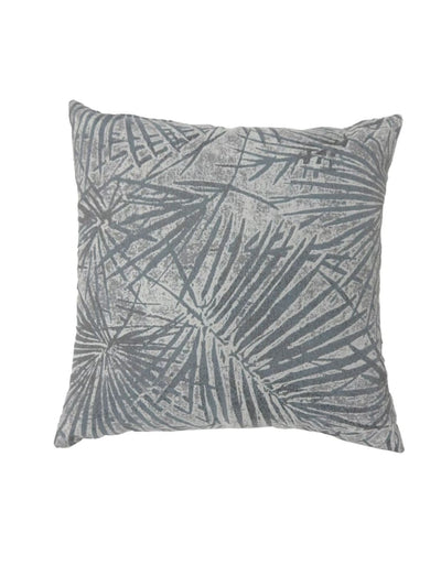 Contemporary Style Palm Leaves Designed Set of 2 Throw Pillows, Gray -PL6038GY-S-2PK By Casagear Home