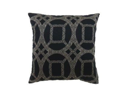 Contemporary Style Set of 2 Pillows With Intriguing Designing, Gray, Black By Casagear Home