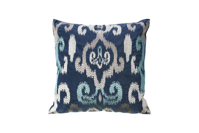 Contemporary Style Set of 2 Throw Pillows With Blurred Motion Lines, Indigo Blue By Casagear Home