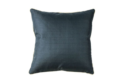 Contemporary Style Set of 2 Throw Pillows With Plain Face, Navy Blue By Casagear Home