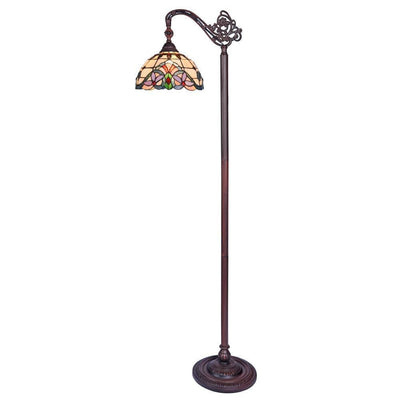 "Cooper Tiffany-Style 1 Light Reading Floor Lamp 11"" Wide - CH33313VI11-RF1"