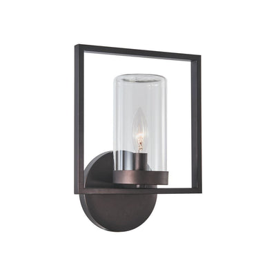 "Daniel Transitional 1 Light Rubbed Bronze Outdoor/Indoor Wall Sconce 13"" Tall - CH2S076RB13-OD1"