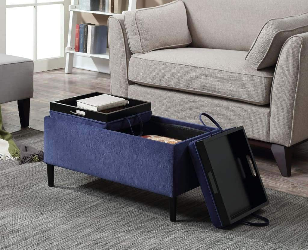 Designs4Comfort Magnolia Storage Ottoman with Trays - R8-154