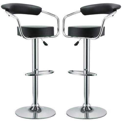 Diner Bar Stool Set of 2 Black