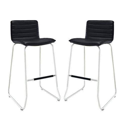 Dive Bar Stool Set of 2 Black