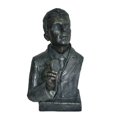 Doctor Statue Sculpture In Patina Black Finish