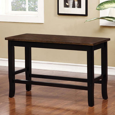 Dover Ii Black And Cherry Counter Height Bench By Casagear Home