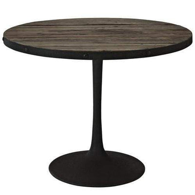 Drive Wood Top Dining Table Brown