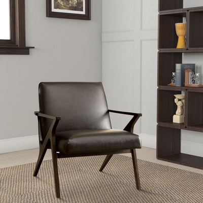 Dubois Contemporary Chair In Brown Finish By Casagear Home