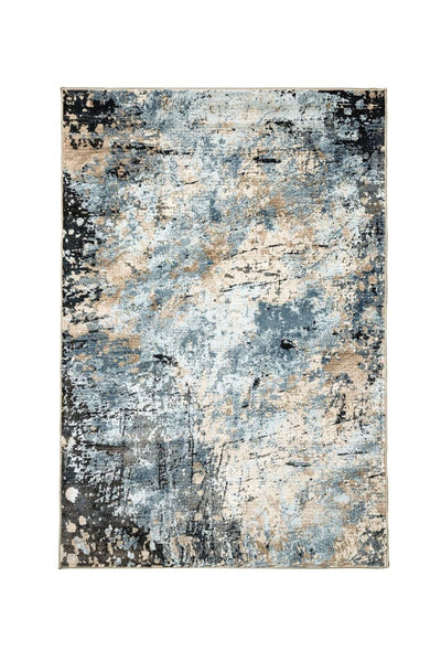 Earthy Area Rug In Polyester With Jute Mesh Backing, Small, Multicolor