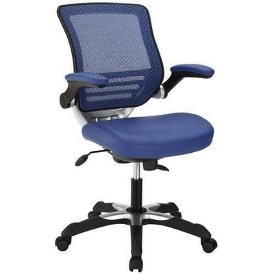 Edge Vinyl Office Chair Blue