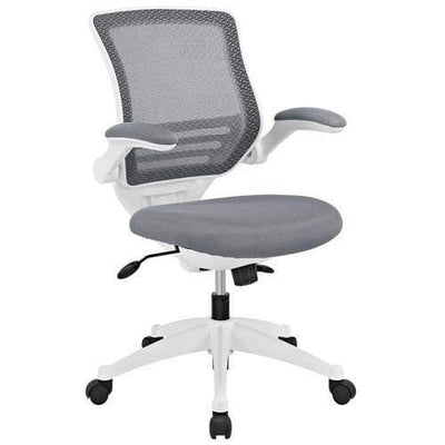 Edge White Base Office Chair Gray