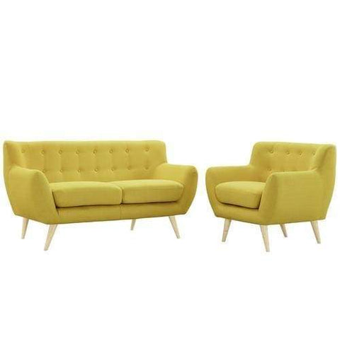 EEI-1783-SUN-SET Remark 2 Piece Living Room Set Sunny