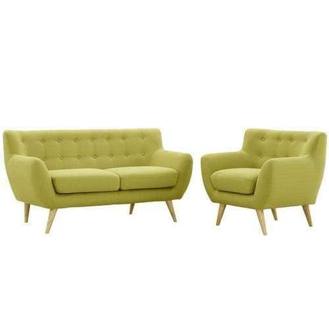 EEI-1783-WHE-SET Remark 2 Piece Living Room Set Wheat