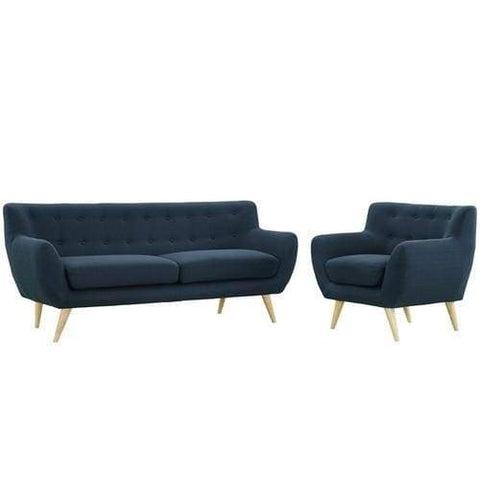 EEI-1784-AZU-SET Remark 2 Piece Living Room Set Azure