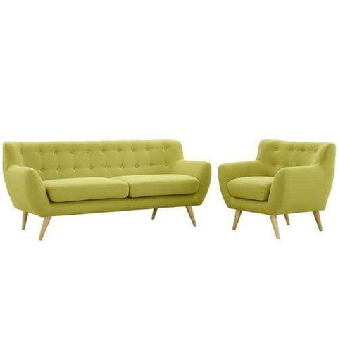 EEI-1784-WHE-SET Remark 2 Piece Living Room Set Wheat