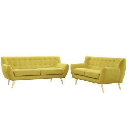 EEI-1785-SUN-SET Remark 2 Piece Living Room Set Sunny