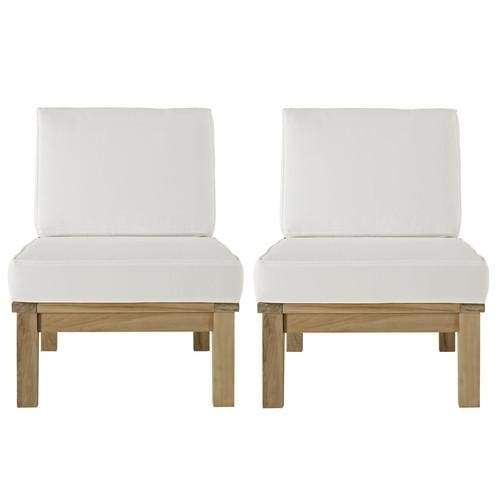 MDY-EEI-1821-NAT-WHI-SET Piece Outdoor Patio Sofa Set