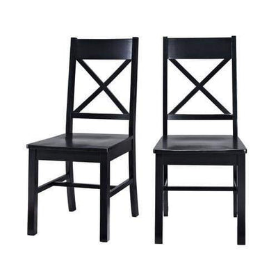 Elegant Set of 2 Black Millwright Dining Chairs by Walker Edison