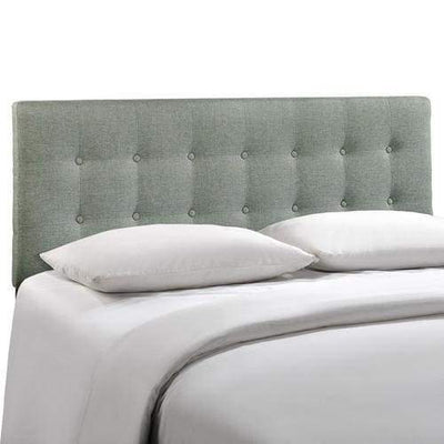 Emily Full Fabric Headboard Gray