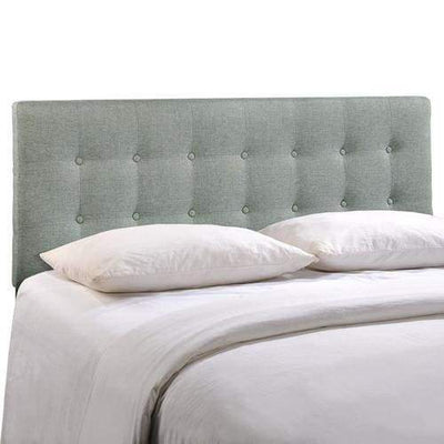 Emily Queen Fabric Headboard Gray