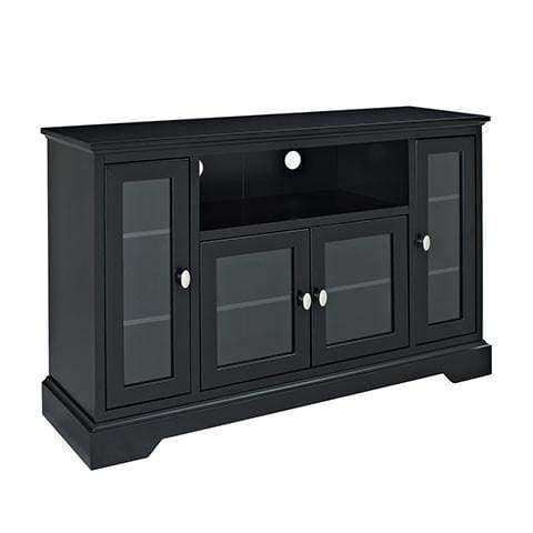 Enticing Highboy Style Wood TV Stand In Black Hues by Walker Edison